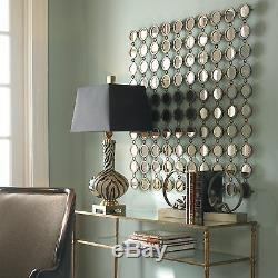 XL 40 Anthropologie Style Wall Mirror Hand Forged Circles Metal Art Modern